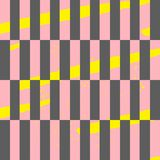 Stripes memphis style seamless pattern. Trendy colorful geometrical print. abstract background. 1980s style design Stock Photo