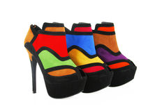 Trendy colorful heels Stock Image