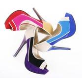 Trendy colorful heels Stock Photo