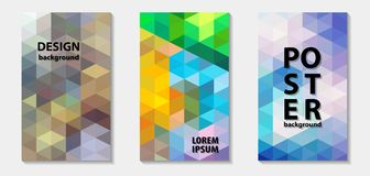 Trendy colorful mosaic template covers design, vector pattern Royalty Free Stock Photography