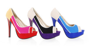 Trendy colorful shoes Royalty Free Stock Photos