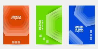Trendy colorful  template covers design. Geometric vector patter Stock Images