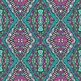 Trendy Colors Ethnic Carpet Seamless Pattern Stock Photography
