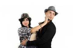 Trendy couple isoated Stock Photography