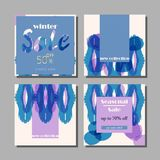 Trendy Creative Abstract Sale. Banners Collection. Seasonal Clearance Set of cards for advertising, poster, business, web, blog, invitation, etc. Vector Stock Images