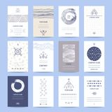 Trendy Creative Business, Company Cards Collection vector illustration