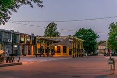 Trendy cultural area of telliskivi at dawn. royalty free stock photos