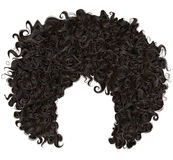 Trendy curly african black hair . fashion beauty style . Trendy curly african black hair . realistic 3d . fashion beauty style vector illustration