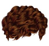 Trendy curly hairs red ginger redhead . medium length . fashion Stock Photos