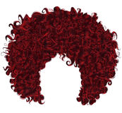 Trendy curly Red hair . realistic 3d . spherical hairstyle . stock images