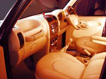 Trendy custom designed  auto interiors. Designer upholstery forTrendy Auto Interiors a new Indian Industry Royalty Free Stock Image