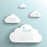 Trendy 3D Background Clouds. With Transparent Shadow Stock Images