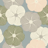 Trendy decorative floral seamless pattern Royalty Free Stock Photos