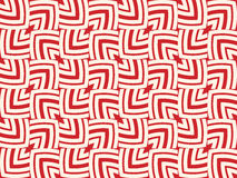 Trendy decorative red and white colors geometrical seamless pattern of ellipse outlines in the square shape Royalty Free Stock Image