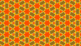 Trendy decorative seamless geometric pattern with various shapes of orange, yellow and olive shades Stock Photo