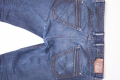 Trendy denim jeans Stock Images