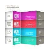 Trendy design infographic Stock Photos
