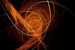 Trendy design with orange and yellow light waves Stock Photo