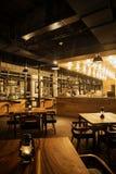 Trendy design restaurant interior Stock Images
