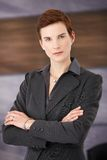Trendy determined businesswoman Stock Images