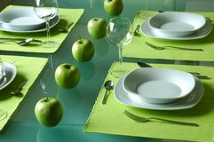 Trendy dining table setting Stock Image