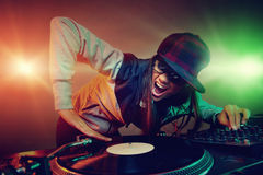 Trendy dj Royalty Free Stock Image