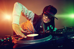 Trendy dj Stock Image