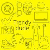 Trendy dude, hipster Royalty Free Stock Image