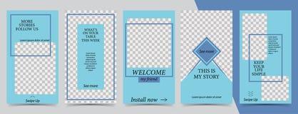 Trendy editable Instagram Stories template. Design for social media. Social media stock illustration