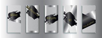 Trendy editable Instagram stories templates, vector illustration. vector illustration
