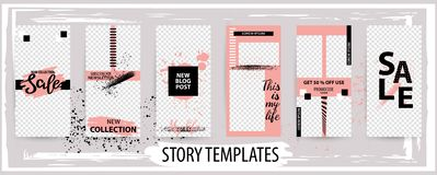 Trendy editable template for social networks stories, vector illustration vector illustration