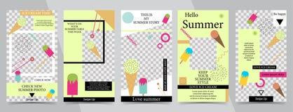 Trendy editable template for social networks stories,vector illustration. Design backgrounds for social media.Summer design style vector illustration