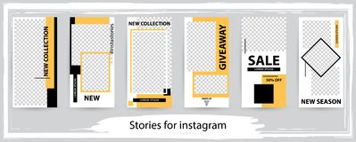 Trendy editable template for social networks stories , vector il royalty free stock photography
