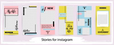 Trendy editable template for social networks stories , vector il royalty free stock photo