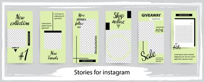 Trendy editable template for social networks stories , vector il stock photos