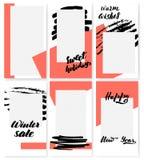 Trendy editable template for social stock illustration