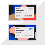 Trendy elegant business card templates. Modern luxury beauty sal Royalty Free Stock Image