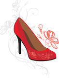 Trendy elegant red shoes Stock Image