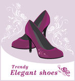 Trendy elegant shoes. Label for design Royalty Free Stock Photo