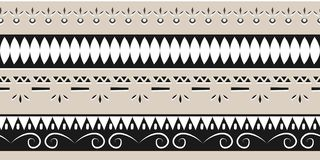 Trendy ethnic tribal seamless pattern vector illustration with geometric hand drawn stripes ikat motif batik background multicolor. African Trendy ethnic tribal vector illustration