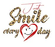 Trendy fashion T-shirt print for textile just smile everyday design. Pattern stock illustration