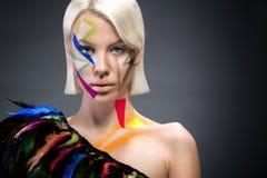 Trendy fashion woman Royalty Free Stock Photos
