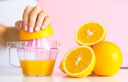 Trendy female manicure. Juice concept. stock image