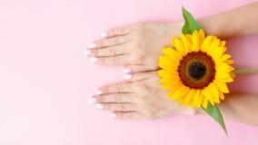 Trendy female manicure. royalty free stock photos