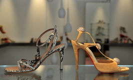 Trendy female sandals Royalty Free Stock Image