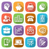 Trendy flat business and finance icon set 1 Vector Stock Photo