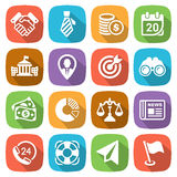 Trendy flat business and finance icon set 2 Vector. Illustration Royalty Free Stock Photo