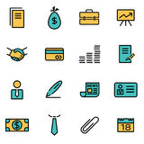 Trendy flat line icon pack for designers and developers. Vector line business icon set Stock Images