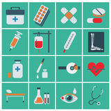 Trendy flat medical icons. Vector elements Vector set of medical icons. Trendy flat medical icons. Vector elements. Vector set of medical icons Royalty Free Stock Images
