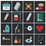Trendy flat medical icons. Vector elements Vector set of medical icons. Trendy flat medical icons. Vector elements. Vector set of medical icons Stock Photos